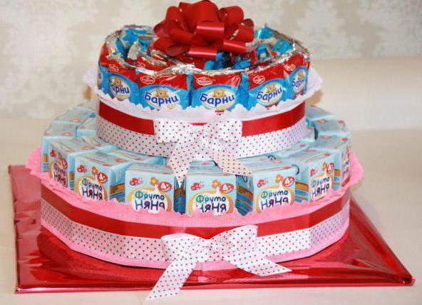 Торт из шоколадок и сока своими руками в детский сад 4