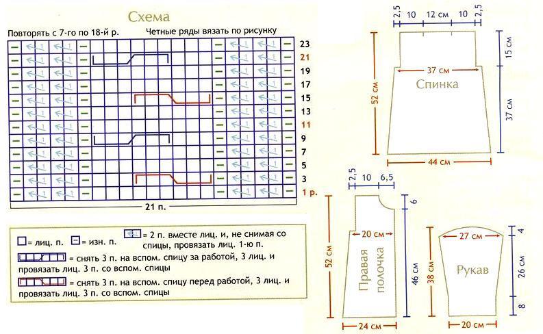 Схема вязания кардигана для девочки 8 лет 69