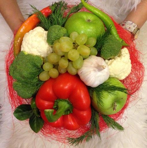 Как сделать букет из овощей своими руками 80