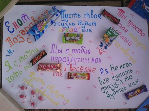 Оригинальный плакат для подруги на день рождения своими руками 177