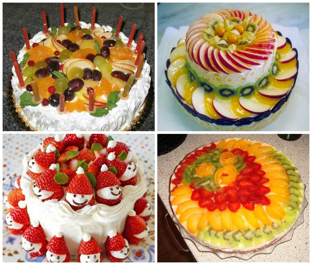Украсить торт фруктами и ягодами своими руками фото 78