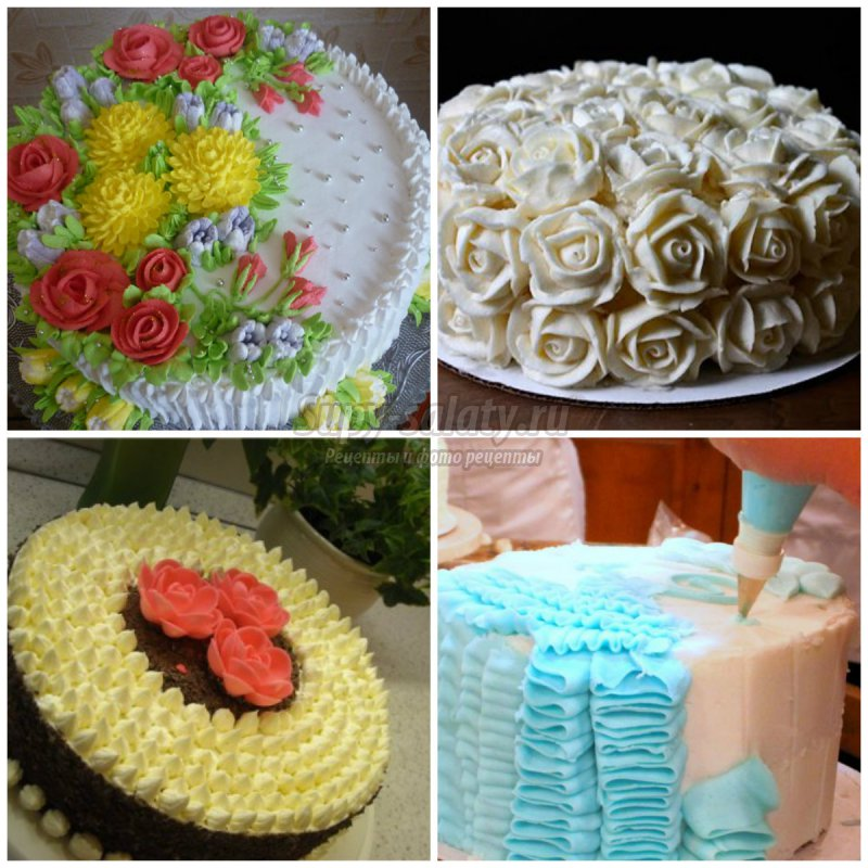 Как украсить торт в домашних условиях взбитыми сливками 944