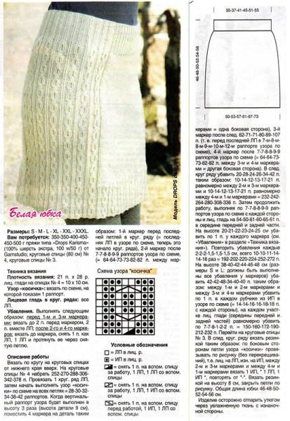 Женские юбки вязание спицами 34