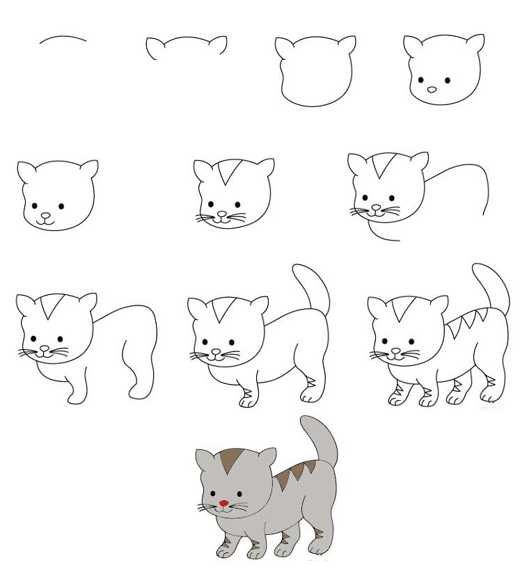 Slatke kako životinje nacrtati Kako nacrtati